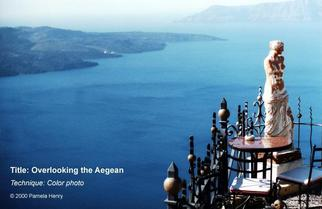 Artist: Pamela Henry - Title: Overlooking the Aegean - Medium: Color Photograph - Year: 2000