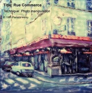 Pamela Henry: 'Rue Commerce', 1995 Polaroid Photograph, Urban. Polaroid manipulation. Signed, archival photo lustre giclee print. ...