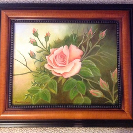 Pamela Van Laanen Artwork A Rose is a Rose, 2014 Oil Painting, Floral