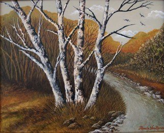 Artist: Pamela Van Laanen - Title: Autumn Quartet - Medium: Acrylic Painting - Year: 2011