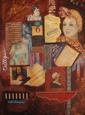 Collage by Pamela Van Laanen titled: Critique , 2010