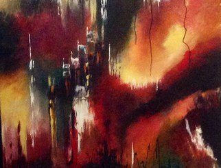 Artist: Pamela Van Laanen - Title: Fire and Ice - Medium: Acrylic Painting - Year: 2014