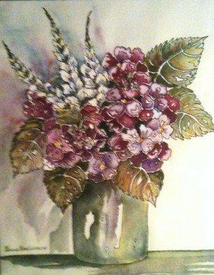 Pamela Van Laanen Artwork Les Fleurs, 2012 Watercolor, Floral