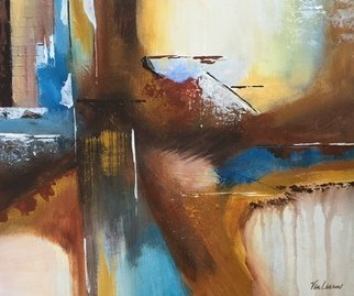 Pamela Van Laanen: 'Rawhide', 2016 Acrylic Painting, Abstract. Artist Description:              Original boldly rendered, acrylic on canvas painting.             ...