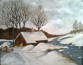 Artist: Pamela Van Laanen - Title: Winter White - Medium: Acrylic Painting - Year: 2012
