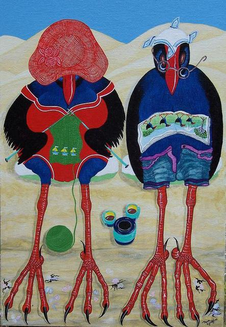 Pam Griffin  'Nanna And Pop 1', created in 2005, Original Painting Acrylic.
