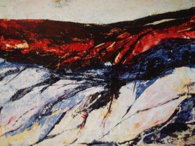 Paola Di Renzo  'Rocky Landscape', created in 2005, Original Painting Acrylic.