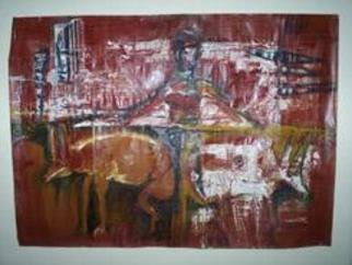 Paola Natalia Sanchez Zarate: 'los perros', 2004 Other Painting, Abstract. - PINTURA INDUSTRIAL...