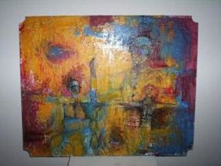 Paola Natalia Sanchez Zarate: 'trio', 2004 Other Painting, Abstract. - Pintura industrial...