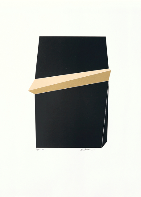 Birgitte Hansen  'Black Gold Iii', created in 1985, Original Printmaking Serigraph.