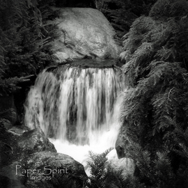 Erik Roman: 'waterfall', 2011 Black and White Photograph, Landscape. Artist Description:  Waterfall  ...