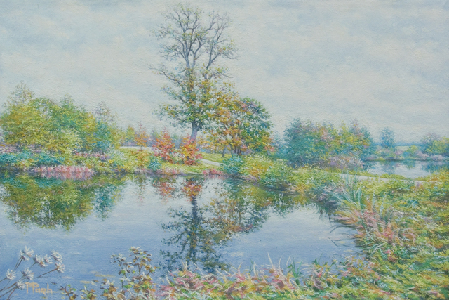 Artist Petr Parkhimovitch. 'Ponds At Svyatsk' Artwork Image, Created in 2018, Original Painting Oil. #art #artist