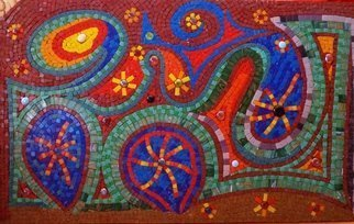 Goksen Parlatan: 'birth of a star mosaic', 2011 Mosaic, Abstract Landscape. Artist Description: Space, stars, colour and creativity. ...
