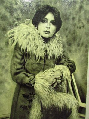 Parviz Amiri Artwork gogosh, 2011 Charcoal Drawing, Life