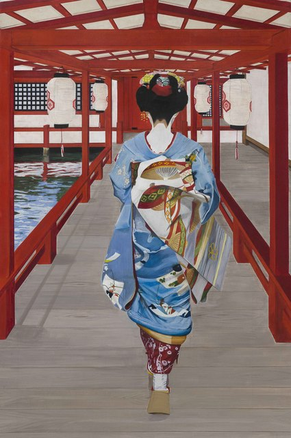 Pasquale Pacelli  'Maiko In Miyajima', created in 2016, Original Painting Oil.
