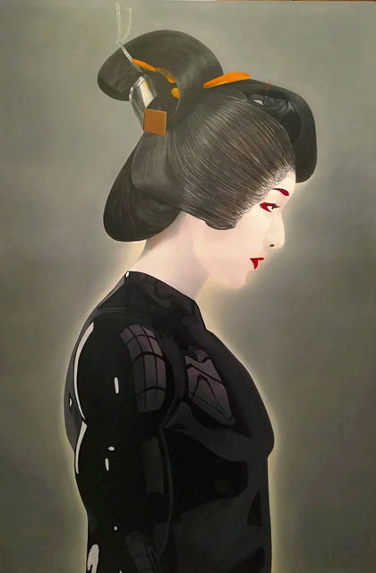 Pasquale Pacelli  'Cyborg Geisha', created in 2020, Original Painting Oil.