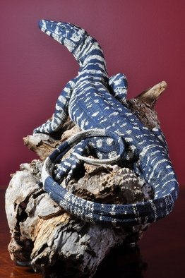 Roger Hjorleifson: 'You are in my Light', 2011 Ceramic Sculpture, Wildlife. Artist Description:   Clay sculpture of a Lace monitor mounted on a mallee stump.  ...
