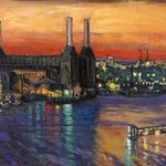 Battersea Power St and Bridges Print By Patricia Clements