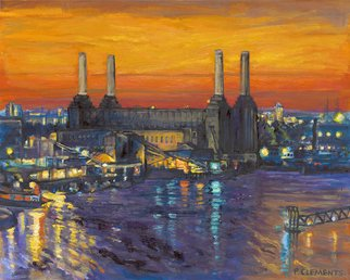 Patricia Clements Artwork Battersea power station , 2010 Giclee, Cityscape