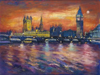 Patricia Clements Artwork Houses of Parliament, 2009 Giclee, Cityscape