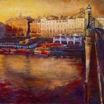 Richmond bridge at night By Patricia Clements