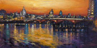 Patricia Clements Artwork St Pauls Skyline , 2010 Giclee, Cityscape