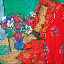 Patricia Clements Artwork kimono, 2008 Oil Painting, Still Life