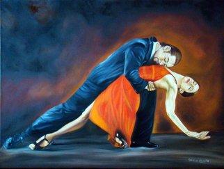 Artist: Patricia Vicente - Title: Abrazo de tango - Medium: Oil Painting - Year: 2014