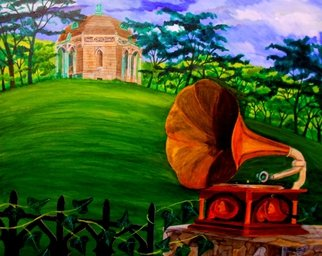 Artist: Patrick Lynch - Title: The Music of the Waning Day - Medium: Acrylic Painting - Year: 2003