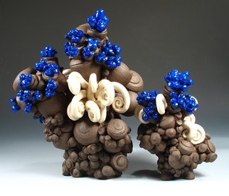 Patsy Cox Artwork Blue with Spud, 2007 Ceramic Sculpture, Nature
