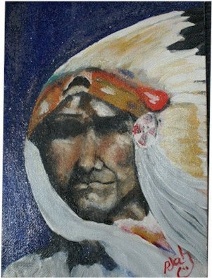 Patty Hoskin Artwork American Eagle, 2009 Acrylic Painting, Portrait