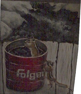 Patty Hoskin Artwork Folgers, 2009 Acrylic Painting, Animals