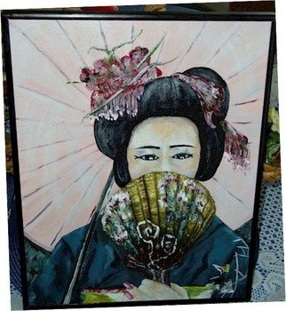 Patty Hoskin: 'Geisha 2', 2011 Acrylic Painting, People.