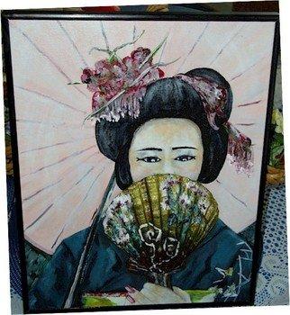 Patty Hoskin Artwork Geisha 2, 2011 Acrylic Painting, People