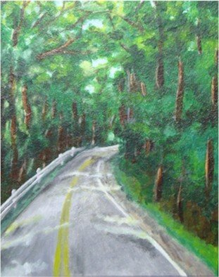 Patty Hoskin: 'On the Road', 2010 Acrylic Painting, Landscape.