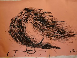 Pat Woolven Artwork Bad Hair Day, 2010 Other Drawing, Abstract Figurative