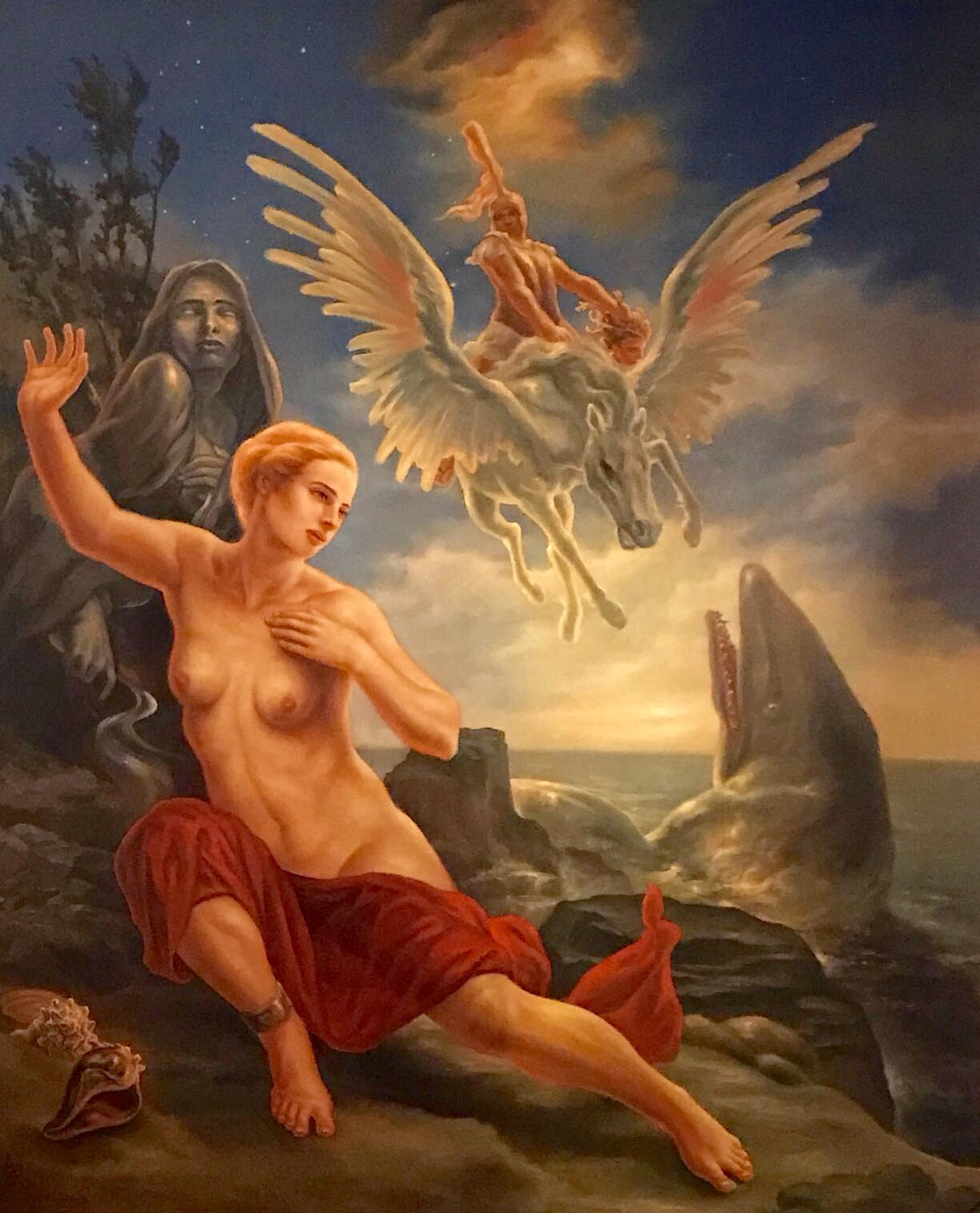 Paul Armesto Artwork andromeda, 2016 Oil Painting, Mythology