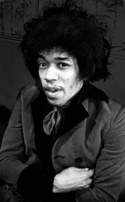 Paul Berriff Artwork Jimi Hendrix, 1967 Black and White Photograph, Music