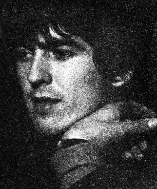 Paul Berriff Artwork The Beatles George Harrison, 1963 Black and White Photograph, Music
