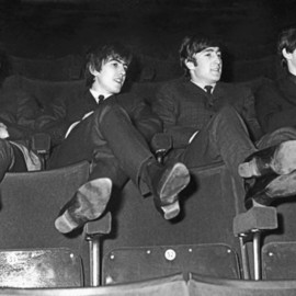 Paul Berriff Artwork The Beatles Kicking Back, 1963 Black and White Photograph, Music