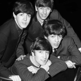 Paul Berriff Artwork The Beatles The Fab Four, 1963 Black and White Photograph, Music
