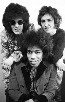 Paul Berriff Artwork The Jimi Hendrix Experience, 1967 Black and White Photograph, Music