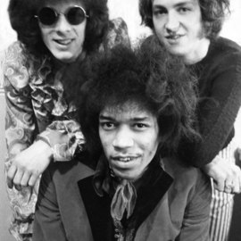 Paul Berriff: 'The Jimi Hendrix Experience', 1967 Black and White Photograph, Music. Artist Description: Jimi Hendrix Experience backstage before a concert at the Troutbeck Hotel, Ilkley Yorkshire England 1967. The police stopped the concert halfway through owing to overcrowding. The photograph comes signed by the photographer Paul Berriff on verso with limited edition number and authenticity certificate. ...