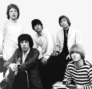 Paul Berriff Artwork The Rolling Stones, 1964 Black and White Photograph, Music