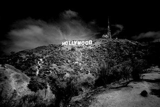 Paul Berriff: 'hollywood', 2019 Black and White Photograph, Americana. A dramatic black and white photograph of the Hollywood sign. ...