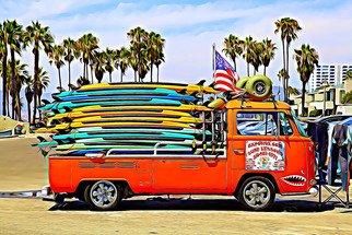 Paul Berriff: 'venice beach california', 2018 Digital Art, Beach. Artist Description: This is a fine art limited edition photograph and is produced on archival museum paper.  Venice Beach, Venice Beach California, Surfers, Surfing, Venice Beach surfing, Pacific Coast Highway, Santa Monica, Paul Berriff, ...