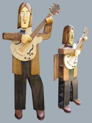 Paul Carbo: 'John Lennon', 2009 Furniture, Famous People. Artist Description:  Custom, handmade, free- standing wood cabinet as life- size caricature of John Lennon. ...