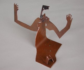 Paul Freeman: 'Raised Hands', 2004 Metalsmith, Undecided.  Copper ...