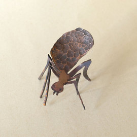 Paul Freeman: 'Scout Ant', 2011 Other Sculpture, Animals. Artist Description:  copper repousse metalwork sculpture  ...