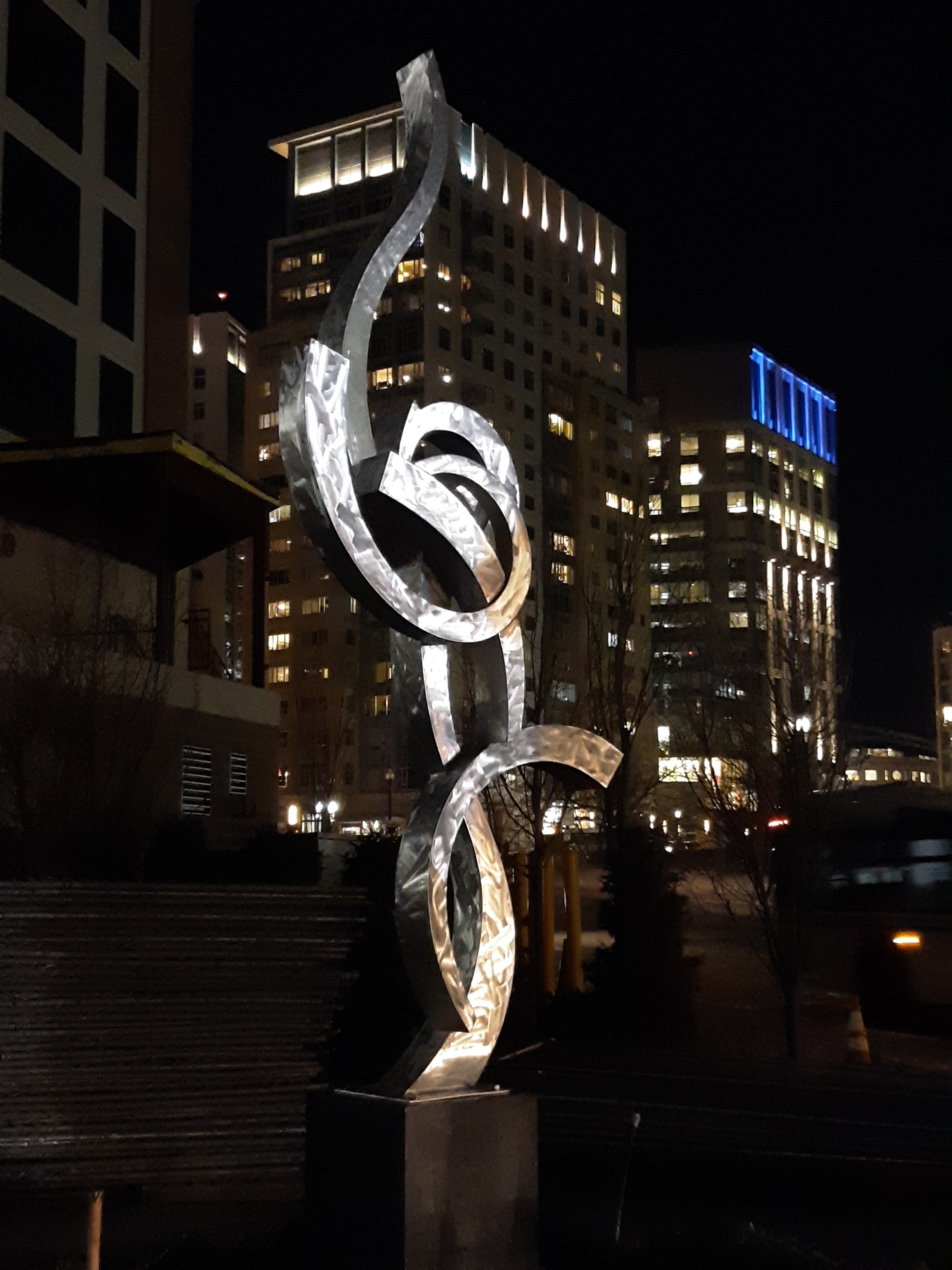 Paul Machalaba: 'SOLD commissions available', 2019 Aluminum Sculpture, Abstract. Artist Description: 13 foot polished fluid abstract commissions available for corporate or residential spaces.  Projects can be designed and built in a similar style to your exact wishes. ...